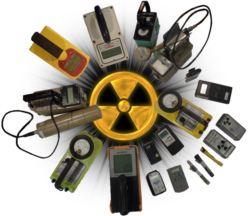 Survery meters from some of the following manufacturers: Anton, Arrow Tech, Automess, Bendix, Berthold, Bicron, Biodex, Canadian Admiral, Canberra, Radalert, Digilert, Dosimeter Corporation, Eberline, Exploranium (SAIC), Innovision, Inspectech, Isotrack, Ludlum, NDS Products, Q NDE, Rados, Raydex, R-Metrics, Russel Rad Alarm, S.E. International, Sentinel, Sper, Stephen, Technical Associates, Thermo (Thermo Eberline), Thermo Measure, Troxalert, Victoreen, William B. Johnson